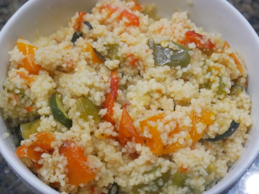 Roasted Garlic & Pepper Couscous //Recipe